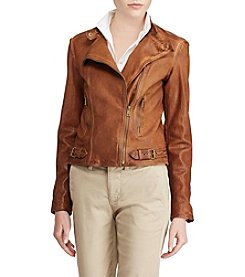 Lauren Ralph Lauren® Leather Moto Jacket