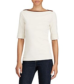 Lauren Ralph Lauren® Stretch Jersey Boatneck Top