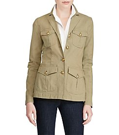 Lauren Ralph Lauren® Cotton Canvas Military Jacket
