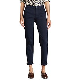 Lauren Ralph Lauren® Stretch Cotton Straight Pants