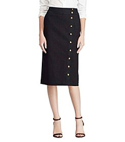 Lauren Ralph Lauren® Buttonfront Denim Skirt