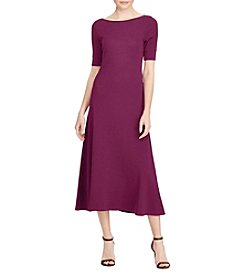 Lauren Ralph Lauren® Waffleknit Cotton Midi Dress