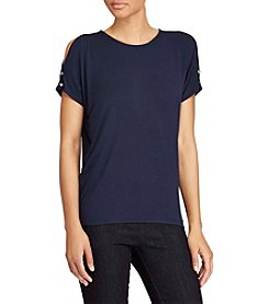 Lauren Ralph Lauren® Cutout-Shoulder Jersey Top