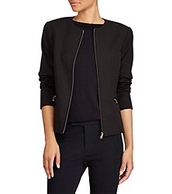 Lauren Ralph Lauren® Collarless Twill Jacket