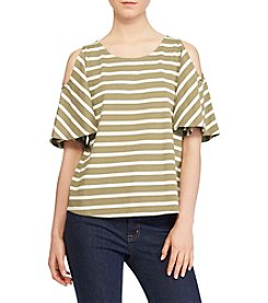 Lauren Ralph Lauren® Striped Cutout-Shoulder Top