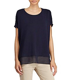 Lauren Ralph Lauren® Layered Jersey Top