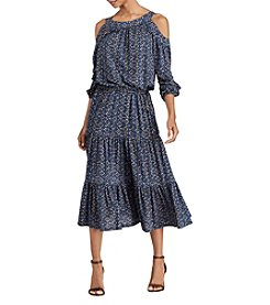 Lauren Ralph Lauren® Woodblock Jersey Midi Dress