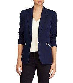 Lauren Ralph Lauren® Zip-Pocket Twill Blazer