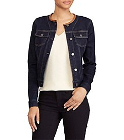 Lauren Ralph Lauren® Collarless Denim Jacket