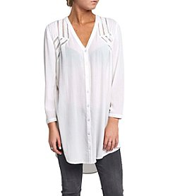 Silver Jeans Co. Long Sleeve Victoria Shawl Tunic Top