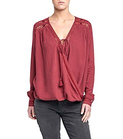 Silver Jeans Co. Shayne Boho Twist Front Blouse