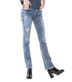 Silver Jeans Co. Aiko Slim Bootcut Destructed Jeans