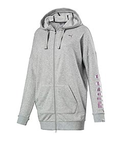 PUMA Elongated Front Zip Hoodie