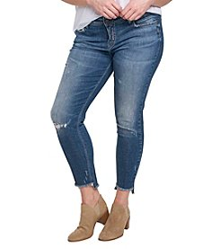Silver Jeans Co. Plus Size Calley Uneven Hem Ankle Jeans