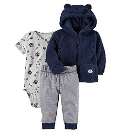Carter's Baby Boys' 3-24 Months 3 Piece Paw Print Little Jacket Set
