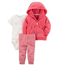 Carter's Baby Girls' 3 Piece Striped Cardigan Little Jacket Set