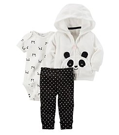Carter's Baby Girls' 3 Piece Panda Cardigan Little Jacket Set
