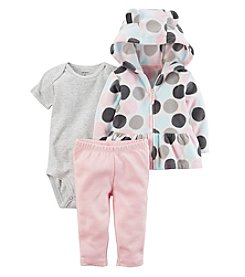 Carter's Baby Girls' 3 Piece Dot Cardigan Little Jacket Set
