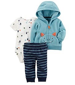 Carter's Baby Boys' 3 Piece Monster Print Cardigan Little Jacket Set