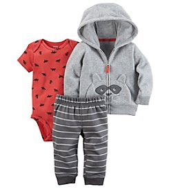 Carter's Baby Boys' 3 Piece Racoon Cardigan Little Jacket Set