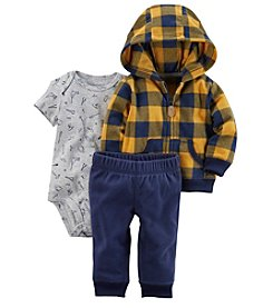 Carter's Baby Boys' 3 Piece Plaid Cardigan Little Jacket Set