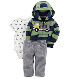 Carter's Baby Boys' 3 Piece Striped Truck Cardigan Little Jacket Set