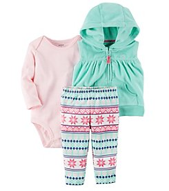 Carter's Baby Girls' 3 Piece Snowflake Vest Little Jacket Set