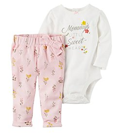 Carter's Baby Girls' 2 Piece Mom's Little Sweetheart Bodysuit & Pants Set