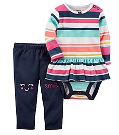 Carter's Baby Girls' 2 Piece Striped Bodysuit & Smile Pants Set