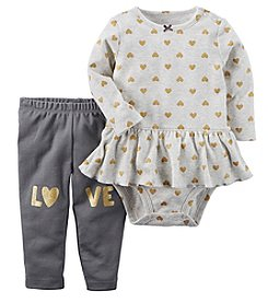 Carter's Baby Girls' 2 Piece Heart Love Bodysuit & Pant Set