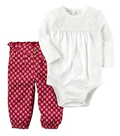 Carter's Baby Girls' 2 Piece Print Bodysuit Pants Set