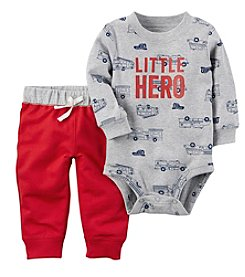 Carter's Baby Boys' 2 Piece Little Hero Bodysuit Pants Set
