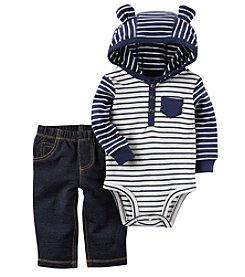 Carter's Baby Boys' 2 Piece Hooded Bodysuit Pants Set