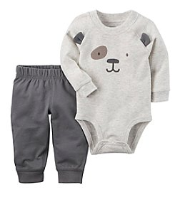 Carter's Baby Boys' 2 Piece Chest Face Bodysuit & Pants Set