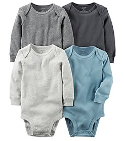 Carter's Baby Boys' 4-Pack Long Sleeve Original Bodysuits