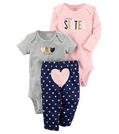Carter's Baby Girls' 3 Piece Sister Heart Little Character Set