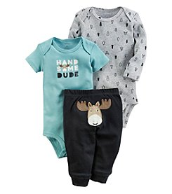 Carter's Baby Boys' 3 Piece Handsome Moose Little Character Set