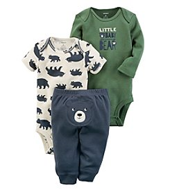 Carter's Baby Boys' 3 Piece Baby Bear Little Character Set