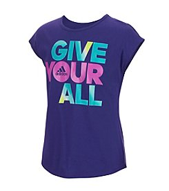 adidas® Girls' 8-16 Short Sleeve Give Your All Tee