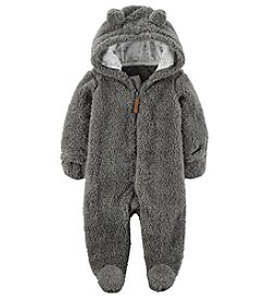 Carter's Baby Newborn-9M Hooded Sherpa Pram Sleep & Play