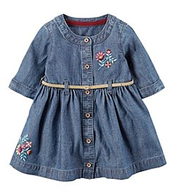 Carter's® Baby Girls' 2 Piece Floral Embroidered Belted Dress