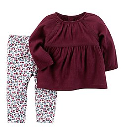 Carter's® Baby Girls' 2 Piece Babydoll Top And Leggings Set