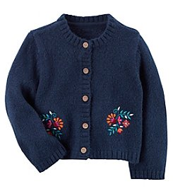 Carter's® Baby Girls' Cardigan With Floral Embroidery