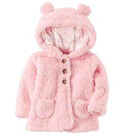 Carter's Baby Girls' 3M-24M Hooded Sherpa Jacket