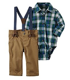 Carter's® Baby Boys' 3 Piece Plaid Dress Me Up Set