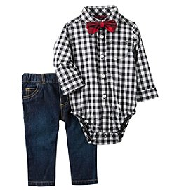 Carter's Baby Boys' 3 Piece Bowtie Print Dress Me Up Set