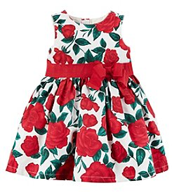 Carter's Baby Girls' Rose Floral Bow Dress