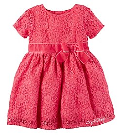 Carter's® Baby Girls' Lace Sleeve Bow Dress