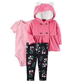Carter's Baby Girls' 3 Piece Floral Print Little Jacket Set