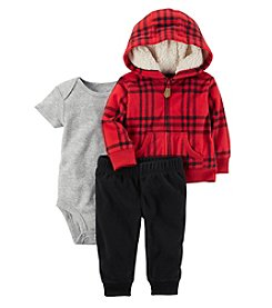 Carter's Baby Boys' 3 Piece Plaid Print Little Jacket Set